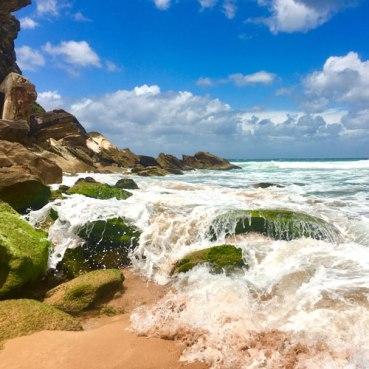 Palm Beach waves on rocks