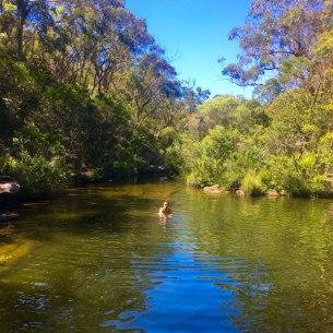 Swimming in Karloo Pool