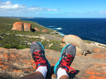 Looking at the horizon at Remarkable Rocks